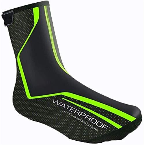 Cubrezapatillas ciclismo invierno Cubiertas de piernas de bicicletas de ciclo de lesrly, cubiertas de zapatos a prueba de viento impermeables antideslizantes, diseño durable cálido y reflectante, adec