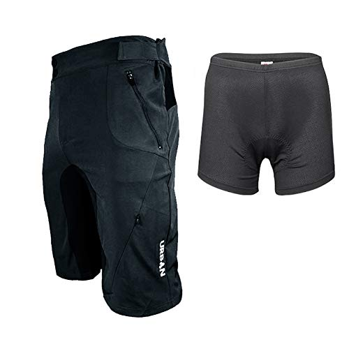 Urban Cycling Apparel Flex II MTB Trail Shorts - Soft Shell Mountain...