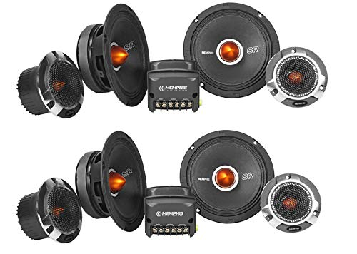"(2) Pairs Memphis Audio SRXP62C SRX Pro 6.5"" Competition Component Car Speakers"