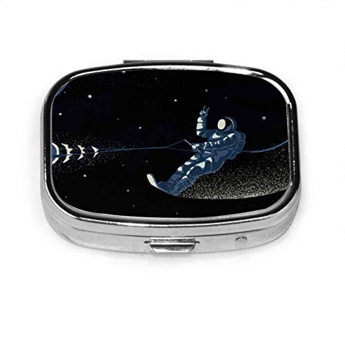 Pastillero Estilo minimalista Astronauta de negocios Abrir Estuche de pastillas lindo Pastilla...