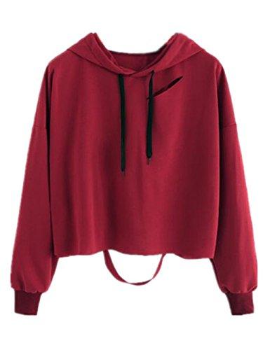 Haililais Mujeres Hipster Corto Sudadera con Capucha Manga Larga Hoodie Pullover Universidad Guays Encapuchado Camisa Personalizadas Suelto Cropped Sweater