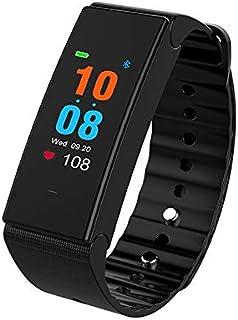 LINGJIA Pulsómetros Ip67 Reloj Inteligente A Prueba De Agua para Hombres Monitor De Ritmo Cardíaco Fitness Sport Reloj Inteligente Fitness Tracker Pulsera Inteligente Negro
