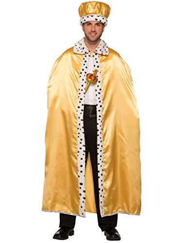 Forum Novelties Adult Royal Costume Cape, Gold, One Size