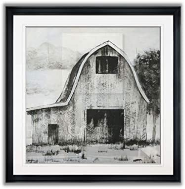 Renditions Gallery Black White Barn II Rustic Farmhouse Giclee Canvas Prints Home Decor Painting product image