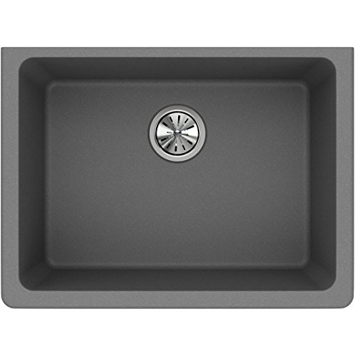 Elkay Quartz Classic Single Bowl Greystone Undermount Composite sink