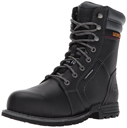 Caterpillar Womens Echo Waterproof Steel Toe Industrial and Construction Shoe, Black, 5 M US