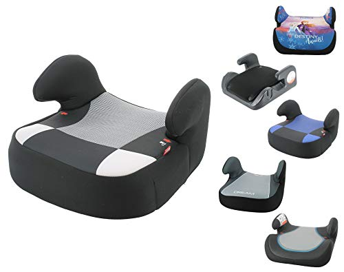 Silla de coche, asiento elevador de coche grupo 2 y 3 de 15Kg a 36Kg - Fabricado en Francia - (Noir)