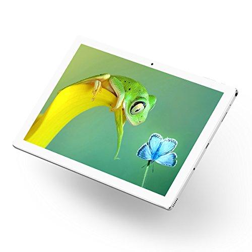 Teclast P10 Tablet Octa Core 10 pollici Display IPS FHD, 2+32GB Android 7.1 OS, 5MP+2MP Doppia Fotocamera, Supporto Dual WiFi OTA OTG G_sensor, Bluetooth 4.0, Case di Metallo Batteria 6000mAh, Bianco