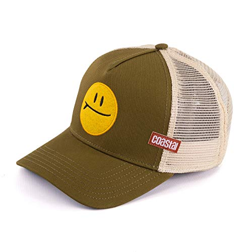 Coastal Trucker Cap SURF and Smile Khaki, Size:ONE Size