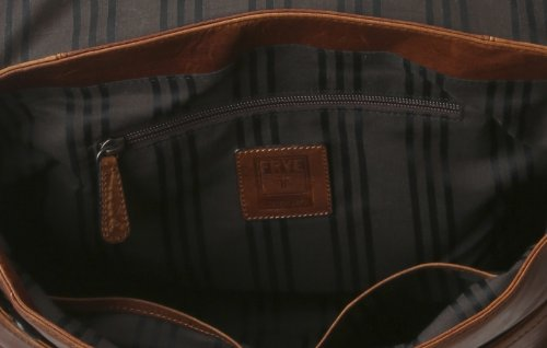 FRYE Men's Logan Messenger Bag, Cognac, One Size