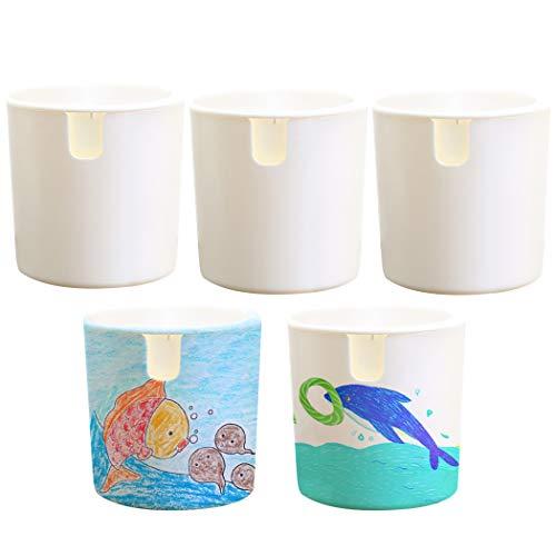 Bangcool 5 sets Bloem Pot DIY Blank Kleurplaten Plant Pot Desktop Tuinieren Pot voor Thuis DIY & Gereedschap