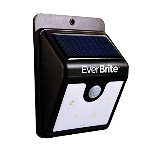 JML Ever Brite LED Solar Powered Motion Activated Indoor/Outdoor Security Night Lamp Light