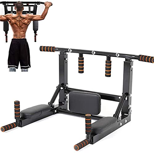 Multifuncional Montado En La Pared Pull Up Bar Home Gym Fitness Chinning Hierro Soporte para El Entrenamiento De Fuerza Apoya A 440 Lbs, Formación De La Estación De Ejercicios