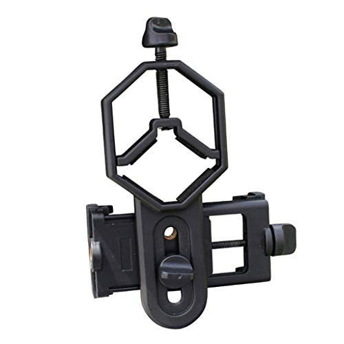 IPOTCH Adaptador Universal de Digiscoping para Smartphone 360 ° Giratorio para Binoculares, Monocular