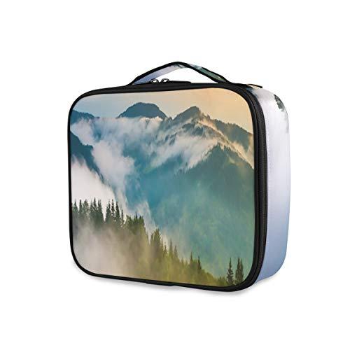 SUGARHE Landscape Misty Mountaintops Print ,Beauty,Borsa Cosmetica Portatile Professionale per Trucco per