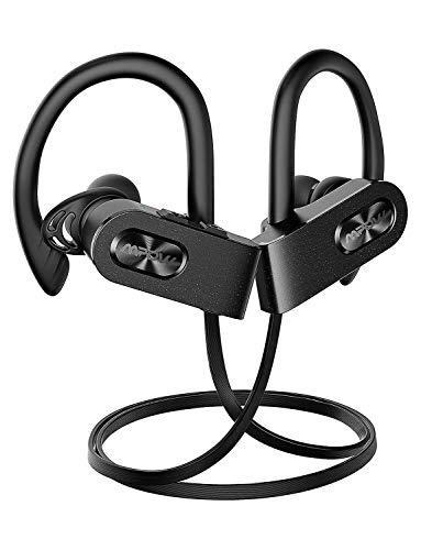 Mpow FLAME2 Bluetooth Headphones Sport, 12Hrs & Bluetooth 5.0 Wireless Sport Earphones, IPX7 Waterproof Bluetooth Headset W/CVC 6.0 Noise Cancelling Mic, Bluetooth Earphones w/Comfort-Slanting, Black
