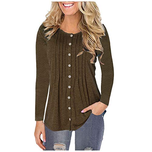 Why Should You Buy jin&Co Plus Size Cardigans for Women Fold Solid Color T-Shirts Long Sleeve Butt...