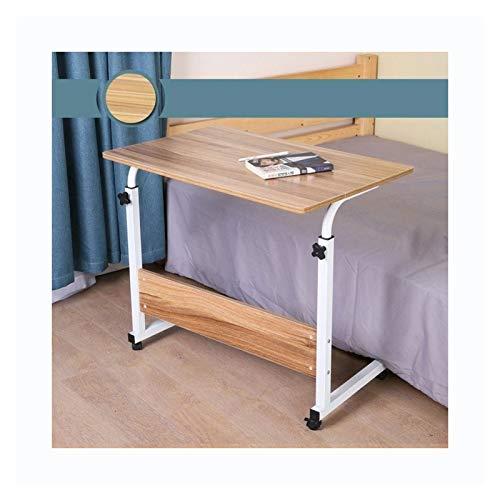YLYWCG Ajustable Mesa De Ordenador Portatil Mesa para Portatiles con Altura Regulable Mesa Auxiliar con Ruedas (Color : Style A 80x50cm)