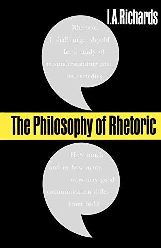 The Philosophy of Rhetoric (Galaxy Books)