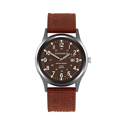 Military Watch,Men Analog Watches Army Filed Tactical Sport Wrist Watches Canvas Strap Calendar Date (B -5)