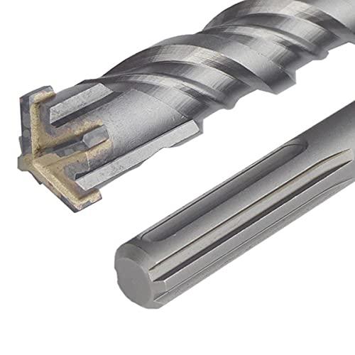 Broca SDS MAX Ø35 mm x 600 mm, para martillo perforador, hormigón y piedra Quadro-X para mampostería, broca de corte en cruz de 4 filos