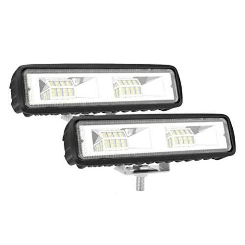 Nrpfell 2X 6 Pulgadas LED Luz de Trabajo de AutomóVil 48W Tira de ConduccióN Barra de Luz de Haz de Luz 4WD SUV Offroad