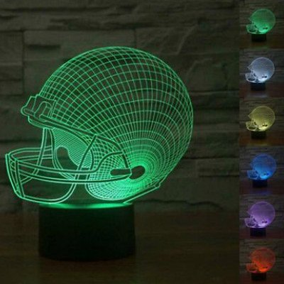 LED Nachtlicht Magical 3D football helm Amazing Optische Täuschung Touch Control Light 7 Farben ändern für Kinderzimmer Home Decoration Best Geschenk