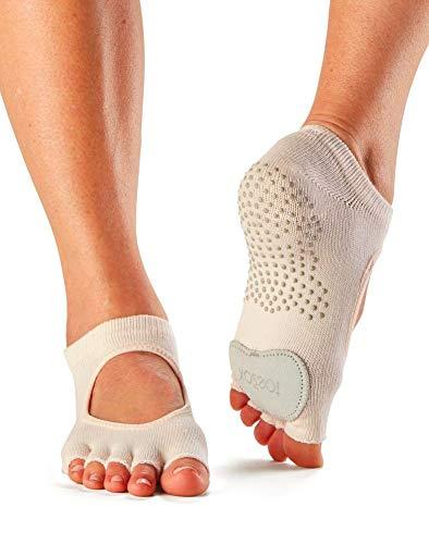 Toesox Half Toe Plie Calcetines de Yoga, Unisex Adulto, Beige (Sweetpea), XS