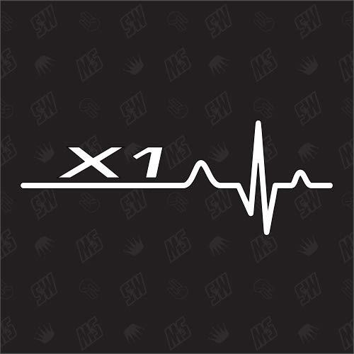 speedwerk-motorwear X1 Herzschlag - Sticker für BMW, Tuning Fan Aufkleber