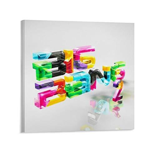 Qiuni Big Bang - Póster de lienzo para pared con 2 álbumes (30 x 30 cm)