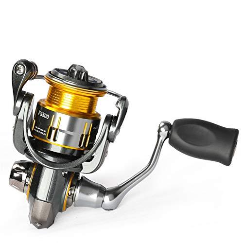 GUANGHEYUAN-J Ultralight Trout Spinning Carrete de Pesca FS 500 165G 4kg Drag Power 9 + 1 Bait Shlow Spool Winter Winter Wheel