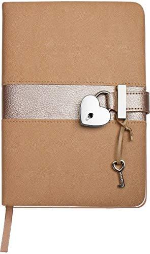 Trötsch Tagebuch Matt & Shiny Beige: mit Schloss und Schlüssel