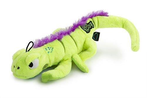 goDog Amphibianz Tough Plush Extra Large Dog Toy with Chew Guard Technology, Iguana