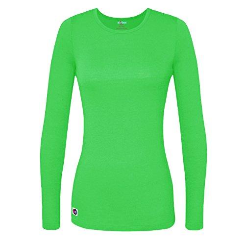 Sivvan Women's Comfort Long Sleeve T-Shirt/Underscrub Tee - S8500 - Neon Lime Green - L