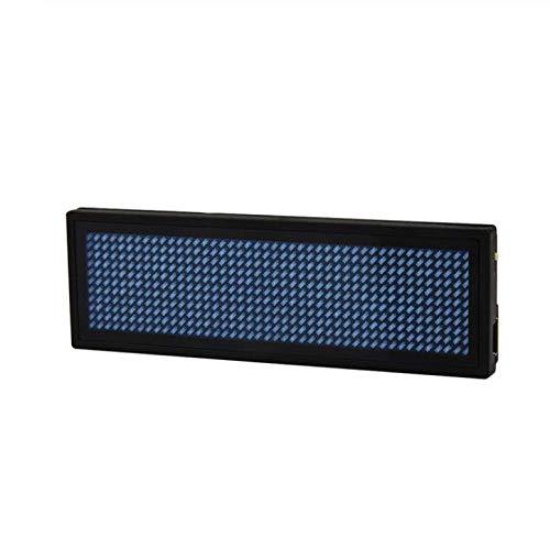 WangyongQI Digitaal, scrollbaar LED-typeplaatje voor berichten (11 x 44 pixels), B
