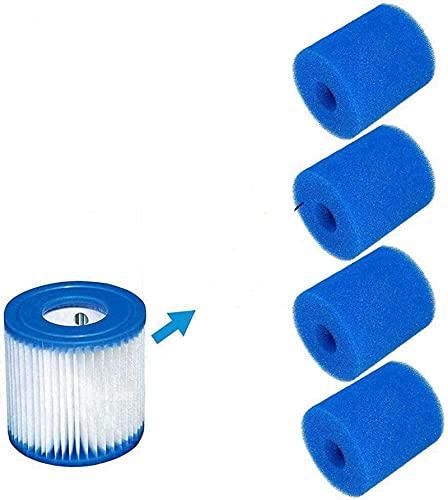 Mscomft Esponjas de filtro para filtro Intex tipo H, reutilizables, lavables, cartucho de repuesto para piscina, jacuzzi, filtro de spa (2 unidades)