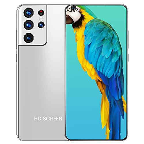 YouthRM Cellulare Sbloccato,Schermo HD+ da 7,3' 12GB+512GBSmartphone 24MP+48MP Doppia Fotocamera 6800mAh Batteria Cellulari Sbloccati(Custodia Protettiva per Telefono Gratuita da Regalare),Silver