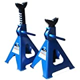 K Tool International 6 Ton Jack Stands Pair (XD); Height Ranges 15 3/4' to 24 2/5', Total Weight 33 Pounds, Comes in...