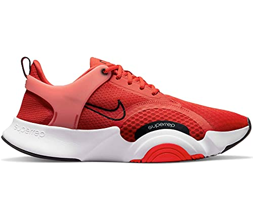 Nike SuperRep Go 2, Scarpe da Calcio Uomo, Chile Red/Black-White-Magic Ember, 44.5 EU