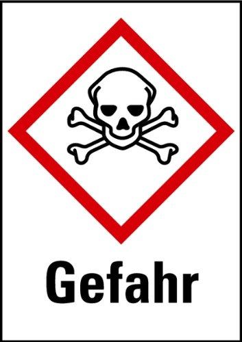 LEMAX® Aufkleber Giftig Gefahr GHS 1 Bogen = 16 Stück 29x20mm
