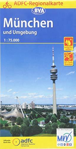 ADFC-Regionalkarte München und Umgebung, 1:75.000, reiß- und wetterfest, GPS-Tracks Download (ADFC-Regionalkarte 1:75000)