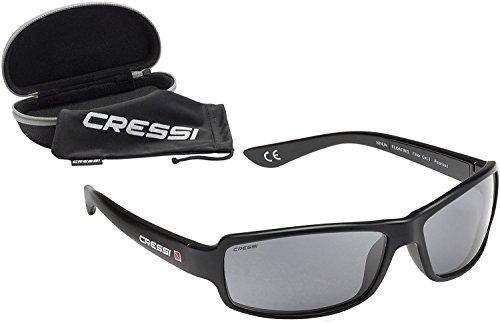Cressi フローティング 偏光 サングラス UV100%カット Ninja スポーツ 水に浮く ハードケース付き (日本正規品) (ブラックレンズ)