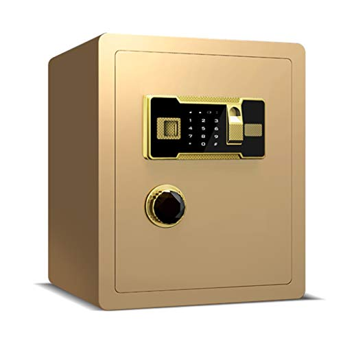 Coffre-fort Bureau Table de Chevet dans Le Mur dans Le Placard Alarme Invisible LITING (Color : Fingerprint Unlocked)