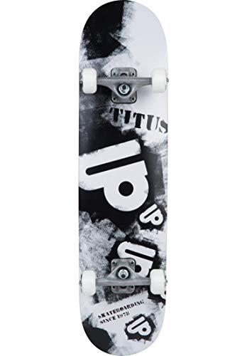 TITUS Skateboards-Complete Spraystencil Black, 8, Komplett Board, 7 Schichten Ahornholz, bereits fertig montiert, Skateboard für Jugendliche, Erwachsene, Anfänger, Profis, Mädchen und Junge
