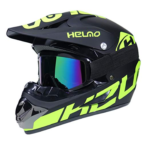 GZMDE - Auto & Motorrad Helm Safe Full Face Classic Fahrrad MTB DH Racing Helm Motocross Downhill Fahrradhelm Motocross für Erwachsene Jugend Junior Kinder Helmet,S