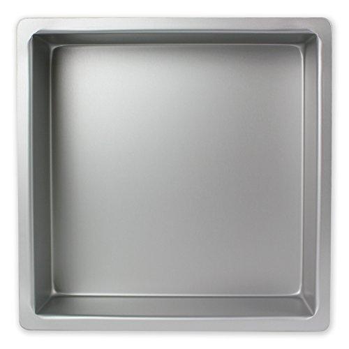 PME SQR143 Teglia Professionale, Alluminio anodizzato, senza punti di saldatura, Argento, 35 x 35 cm