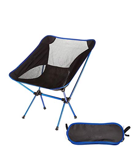Asolym Silla de Camping portátil, compacta, Ultraligera, Plegable, pequeña, Plegable, Plegable, Liviana, para Campamento, Picnic, al Aire Libre, Pesca,Azul
