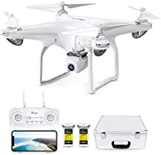 Potensic D58 FPV Drone with 2K Camera for Adults, 5G WiFi HD Live Video, GPS Auto Return, RC Quadcopter for Beginners, Portable Case, 2 Batteries, Follow Me, Tap Fly, Altitude Hold, Expert-Upgraded
