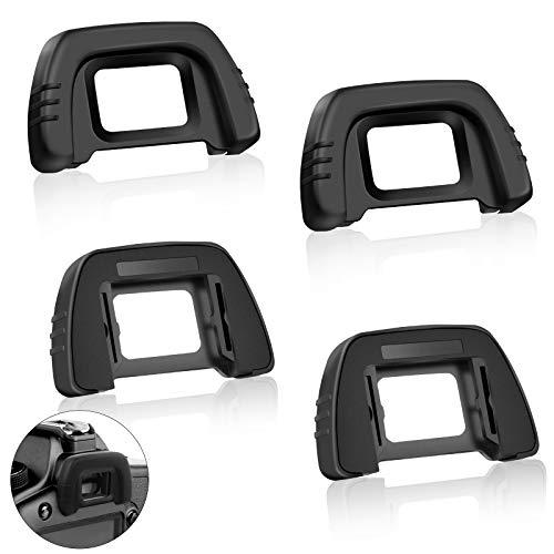 4 Pcs Kamera Augenmuschel Okular Sucher Kamera Augenmuschel für Nikon Augenmuschel Sucher Kamera Okular Sucher für Nikon D7000 D750 D610 D600 D610 D300 D200 D100 D90 D80 D70 D70S D75 DSLR-Kamera