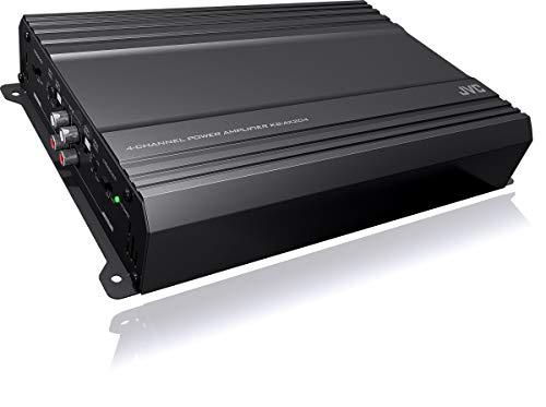 JVC KS-AX204 AX2 Series 600 Watt Class AB 4-Channel Car Stereo Amplifier Low Profile